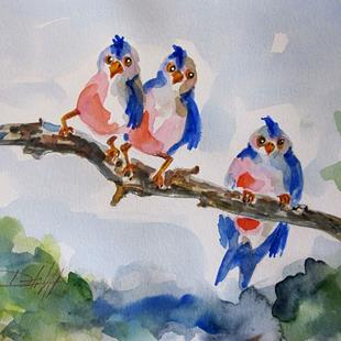 Art: Birds on a Limb by Artist Delilah Smith