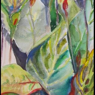 Art: Tropical Leaves by Artist Delilah Smith