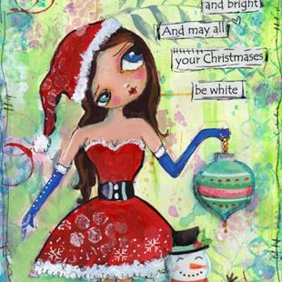 Art: Christmas elf by Artist Betty Stoumbos