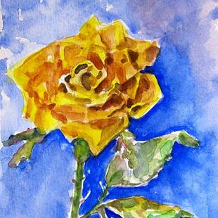 Art: Yellow Rose-sold by Artist Delilah Smith