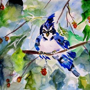 Art: Blue Jay by Artist Delilah Smith