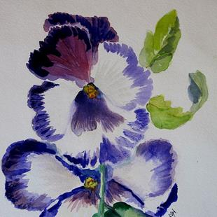 Art: Pansy by Artist Delilah Smith