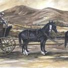 Art: Stagecoach Wedding by Artist Lynn Bickerton Chan