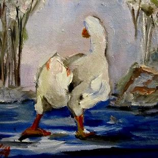 Art: Winter Pond-sold by Artist Delilah Smith