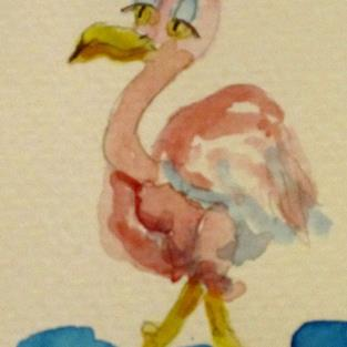 Art: Flamingo by Artist Delilah Smith