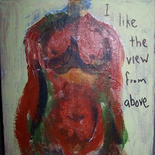 Art: I Like the View From Above by Artist Nancy Denommee