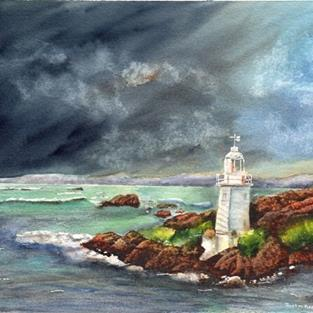 Art: Calm before the Storm by Artist Janet M Graham