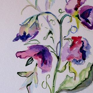 Art: Sweet Pea by Artist Delilah Smith
