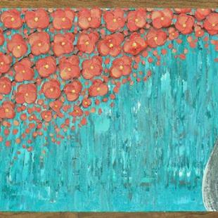 Art: The Coral Blossom Tree II (sold) by Artist Amber Elizabeth Lamoreaux