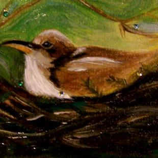 Art: Coo Coo's Nest, Bird ACEO by Artist Camille Meeker Turner