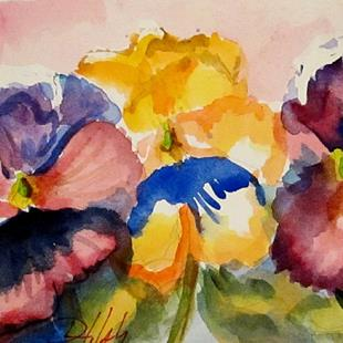 Art: Pansies by Artist Delilah Smith