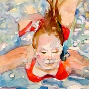 Art: The Swim- SOLD by Artist Delilah Smith