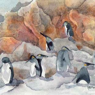 Art: Penguins by Artist Melanie Pruitt