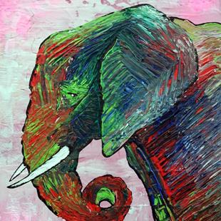 Art: Elephant Colors by Artist Laura Barbosa