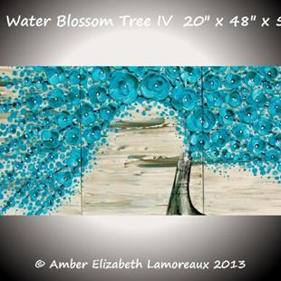 Art: The Water Blossom Tree IV (sold) by Artist Amber Elizabeth Lamoreaux