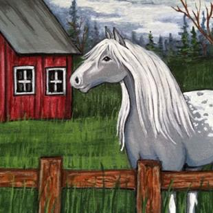 Art: At home on the farm by Artist Rhonda Gilbert