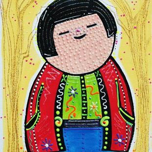 Art: Kokeshi Boy by Artist Laura Barbosa