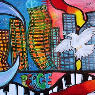 Art: Peaceful City by Artist Laura Barbosa