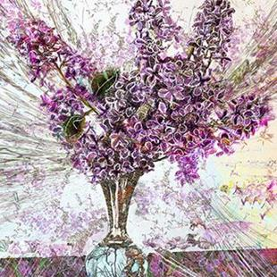 Art: Scribbled Lilacs by Artist Alma Lee
