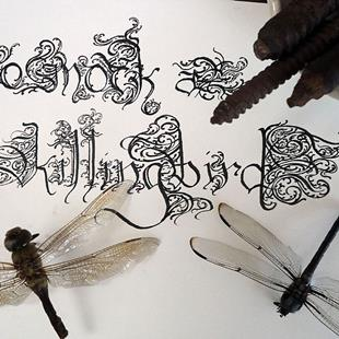 Art: To Mock A Killingbird Hand Lettering, Twisted Titles. by Artist Chris Jeanguenat