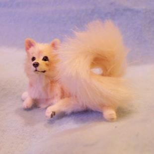 Art: Silk Furred Pomeranian by Artist Camille Meeker Turner