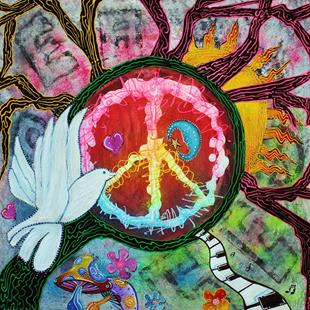 Art: Peace Tree by Artist Laura Barbosa