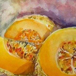 Art: Melons by Artist Delilah Smith