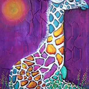 Art: Giraffe of Many Colors by Artist Laura Barbosa