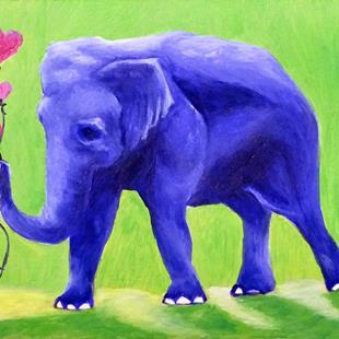 Art: An Elephant Never Forgets (SOLD) by Artist Monique Morin Matson