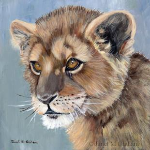 Art: Lion Cub by Artist Janet M Graham
