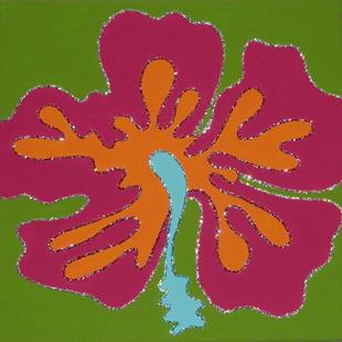 Art: Tropical Flower - Hibiscus by Artist Jane Gould