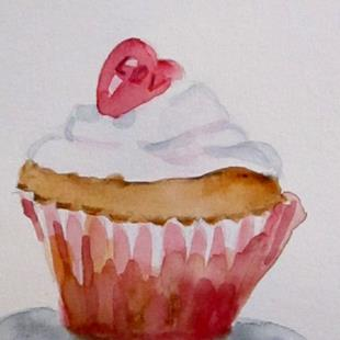 Art: Love Cupcake by Artist Delilah Smith