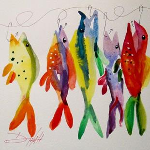 Art: A Rainbow Catch by Artist Delilah Smith