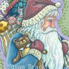 Art: TEDDY AND TOYS by Artist Susan Brack