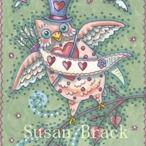 Art: HOOTS N' HEARTS CUPID by Artist Susan Brack