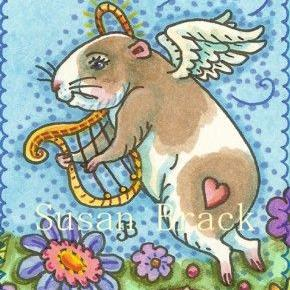 Art: ALL GOOD GUINEA PIGS GO TO HEAVEN by Artist Susan Brack