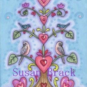 Art: VALENTINE TREE OF LIFE by Artist Susan Brack