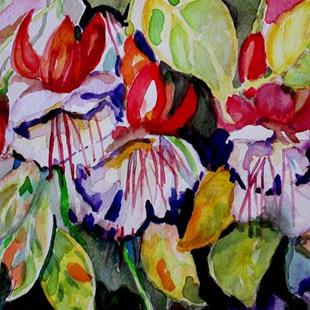 Art: Fuchsias by Artist Delilah Smith