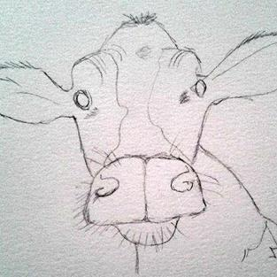 Art: Cow by Artist Jane Gould