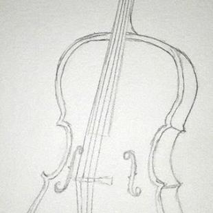 Art: Cello by Artist Jane Gould