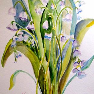 Art: Lily of the Valley by Artist Delilah Smith
