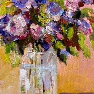 Art: Lilacs in Fruit Jar by Artist Delilah Smith