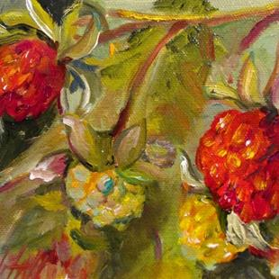 Art: Wild Raspberries No. 2 by Artist Delilah Smith