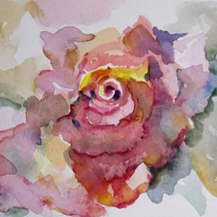 Art: Pink Watercolor Rose by Artist Delilah Smith