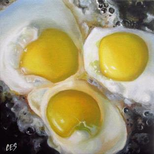 Art: Fried Eggs by Artist Christine E. S. Code ~CES~