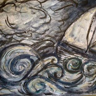 Art: The Angry Sea by Artist Chris Jeanguenat