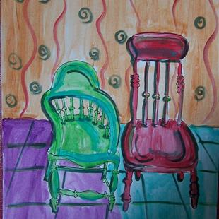 Art: Pair of Chairs  by Artist Nancy Denommee