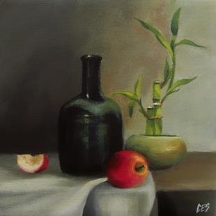 Art: Lucky Bamboo Still Life by Artist Christine E. S. Code ~CES~