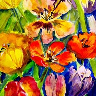 Art: Tulips No. 3 by Artist Delilah Smith
