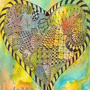 Art: Zentangle Inspired Heart # 8 by Artist Ulrike 'Ricky' Martin